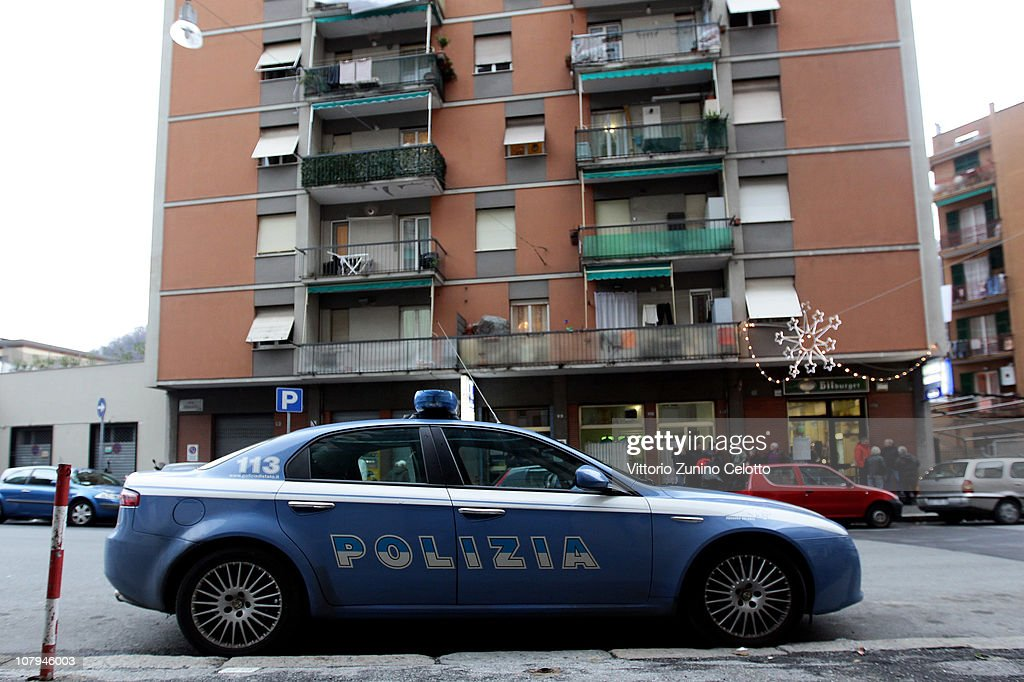 A general view of the building where Carlo Trabona killed his wife Antonina Scinta on January 9, 2011 in Genoa, Italy. Carlo Trabona, a 74-year-old retired bricklayer, has shot dead two of his neighbours and then killed his wife, before shooting himself after being surrounded by the Police in Genoa. Police suspect Jealousy, over alleged infidelity by Trabona's wife, was the motive for the murders.