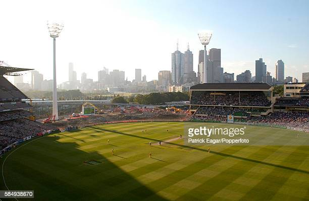 General view of the building work at the MCG during the 2nd VB Series One Day International between Australia and England at Melbourne Australia 15th...