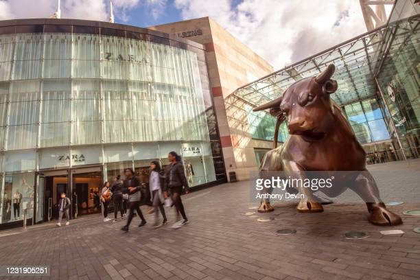 General view of the Bullring shopping centre in Birmingham city centre on March 20, 2020 in Birmingham, England.