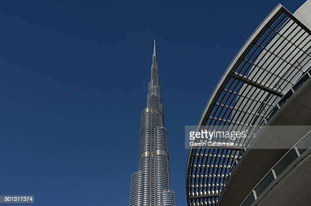 A general view of the Burj Khalifa the world's tallest building during day six of the 12th annual Dubai International Film Festival on December 14...