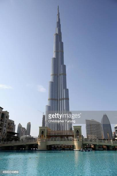 A general view of the Burj Khalifa the worlds tallest tower on November 16 2013 in Dubai United Arab Emirates Dubai is recovering from its slump...