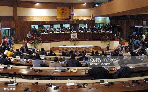 General view of the Burundi peace summit in Arusha Tanzania 26 February 2001 Five African presidents are attending the summit aimed at pushing...