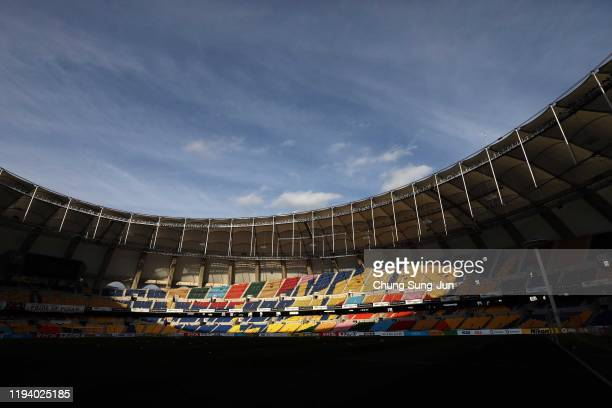 General view of the Busan Asiad Main Stadium prior to the EAFF E-1 Football Championship match between South Korea and Chinese Taipei at Busan Asiad...