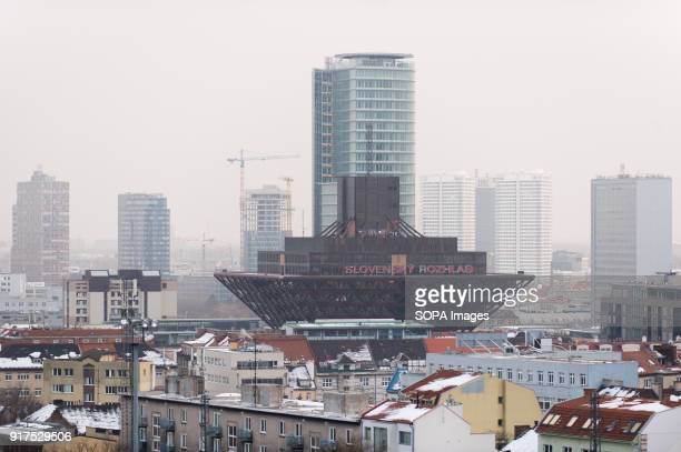 A general view of the business buildings in Bratislava Bratislava is the capital city of Slovakia it has a population of just over 420000 in late 2017