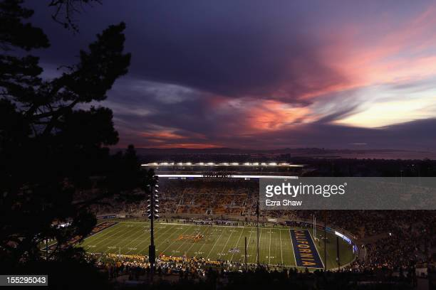 A general view of the California Golden Bears playing against the Washington Huskies at California Memorial Stadium on November 2 2012 in Berkeley...