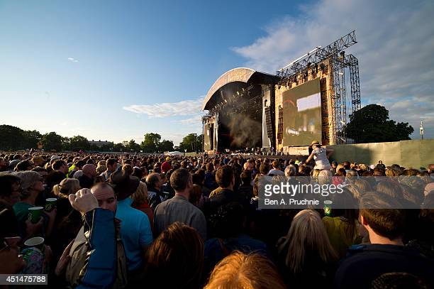 A general view of the Calling Festival at Clapham Common on June 29 2014 in London England