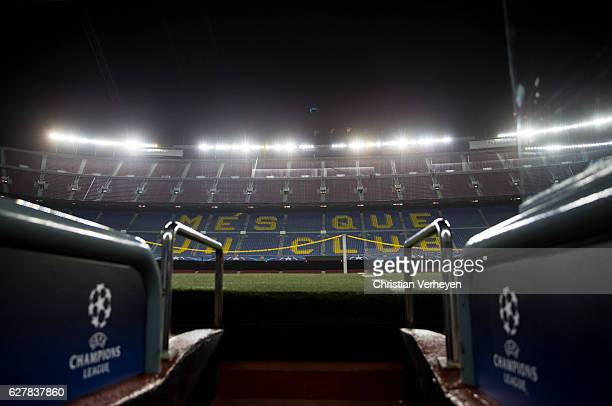 A general view of the Camp Nou ahead a training session of Borussia Moenchengladbach at Camp Nou on December 05 2016 in Barcelona Spain