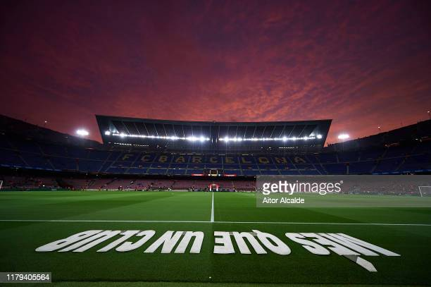 General view of the Camp Nou prior to the Liga match between FC Barcelona and Sevilla FC at Camp Nou on October 06, 2019 in Barcelona, Spain.
