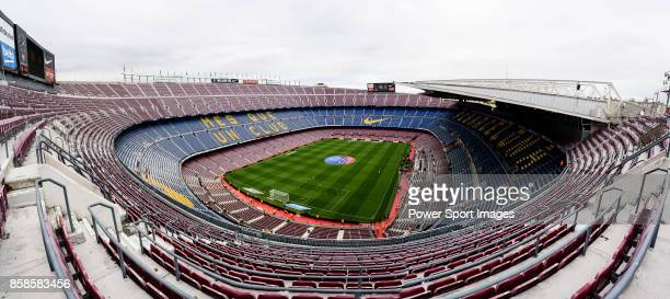 A general view of the Camp Nou stadium during the La Liga 201718 match between FC Barcelona and Las Palmas at Camp Nou on 01 October 2017 in...