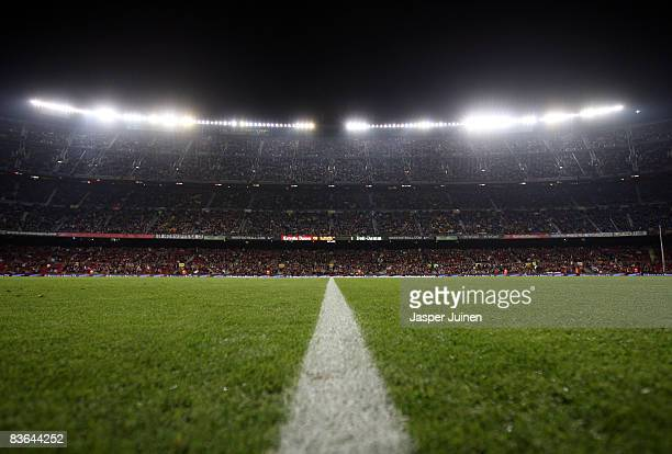 General view of the Camp Nou stadium prior to the La Liga match between Barcelona and Real Valladolid at the Camp Nou Stadium on November 8 2008 in...