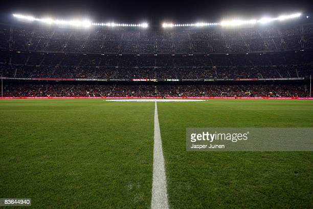 General view of the Camp Nou stadium prior to the La Liga match between Barcelona and Real Valladolid at the Camp Nou Stadium on November 8, 2008 in...