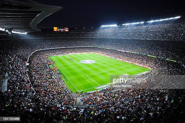 A general view of the Camp Nou Stadium prior to the La Liga match between FC Barcelona and Real Mdrid CF on October 7 2012 in Barcelona Spain