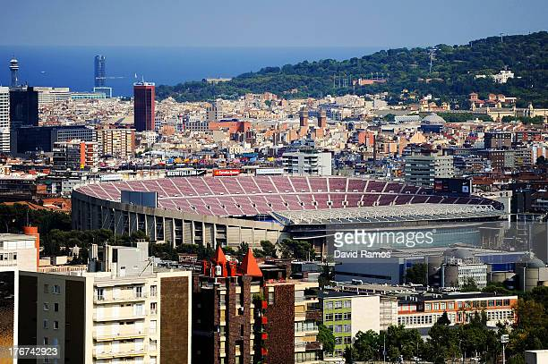 General view of the Camp Nou Stadium prior to the La Liga match between FC Barcelona and Levante UD on August 18, 2013 in Barcelona, Spain.