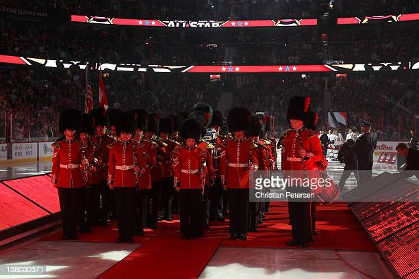 A general view of the Canadian national anthem prior to the 2012 Tim Hortons NHL AllStar Game between Team Alfredsson and Team Chara at Scotiabank...