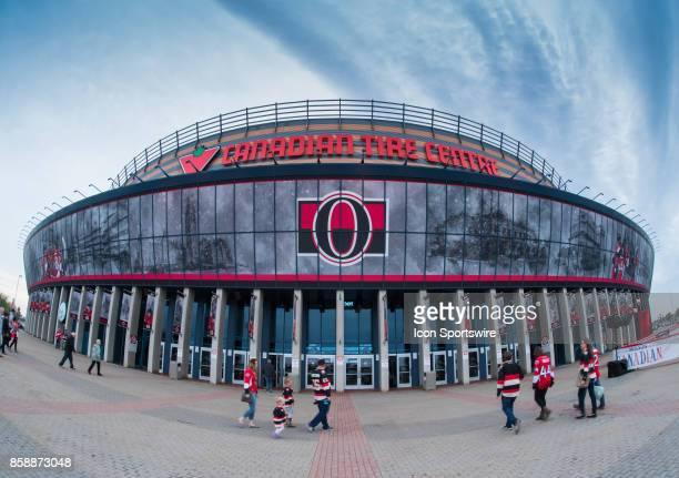 General view of the Canadian Tire Centre as fans begin to arrive for the NHL game between the Ottawa Senators and the Detroit Red Wings on Oct. 7,...