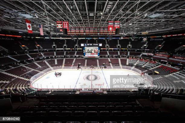 General view of the Canadian Tire Centre prior to the start of a game between the Vegas Golden Knights and the Ottawa Senators on November 4, 2017 in...