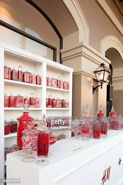 A general view of the candy bar in the garden at HM on November 15 2013 in New Orleans Louisiana