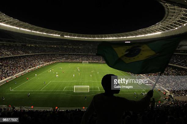 A general view of the Cape Town Stadium during the U20 International Friendly match between South Africa and Nigeria at Cape Town Stadium on April 10...