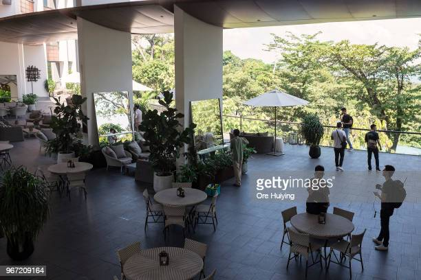 General view of the Capella Hotel lounge area on June 4 2018 in Singapore US President Donald Trump announced on Friday that the historic meeting...