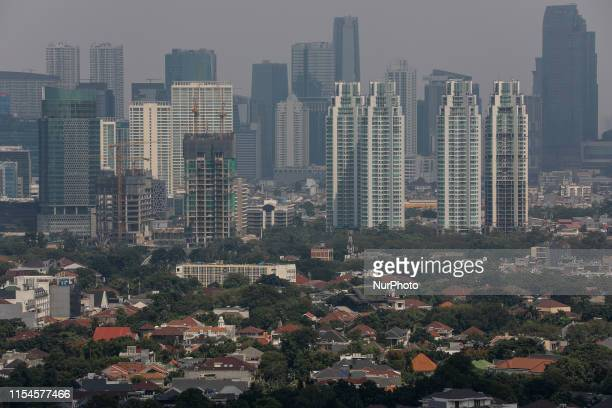 A general view of the capital city as smog covers the capital city of Jakarta Indonesia July 8 2019 Like many Asian megacities Jakarta chokes on...