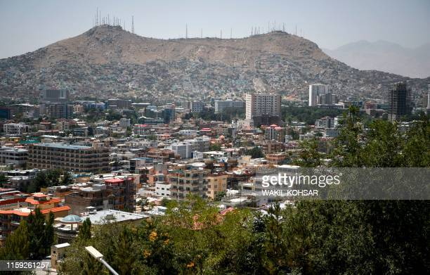 A general view of the capital city of Kabul on August 3 as new talks between the US and the Taliban go on Washington is hoping for a breakthrough as...