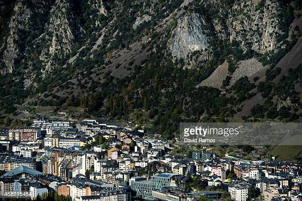 General view of the capital on October 31, 2014 in Andorra la Vella, Andorra. Andorra is a tax haven status although it is in the process of...