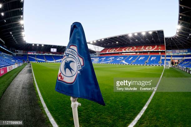 A general view of the Cardiff City Stadium before the Premier League match between Cardiff City and Everton at The Cardiff City Stadium on February...