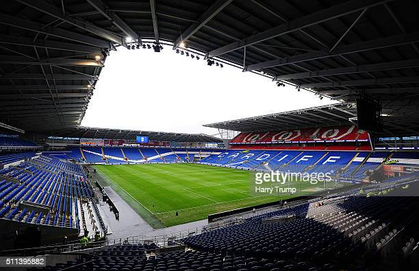 General view of the Cardiff City Stadium prior to kick off during the Sky Bet Championship match between Cardiff City and Brighton and Hove Albion at...
