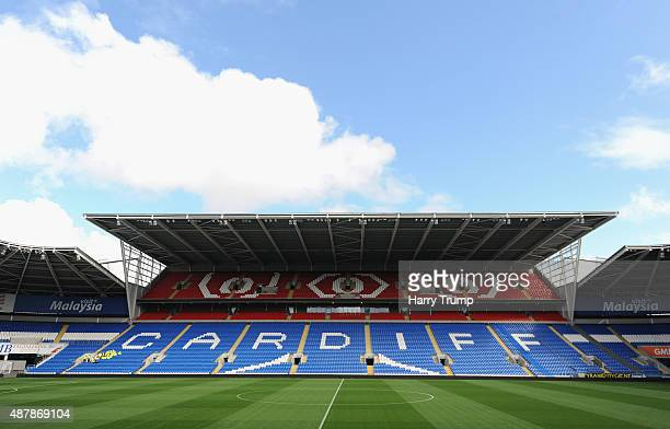 General view of the Cardiff City Stadium prior to the Sky Bet Championship match between Cardiff City and Huddersfield at Cardiff City Stadium on...