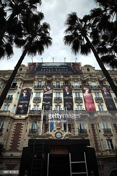 A general view of the Carlton Hotel on Day 1 of The 66th Cannes Film Festival on May 15 2013 in Cannes France