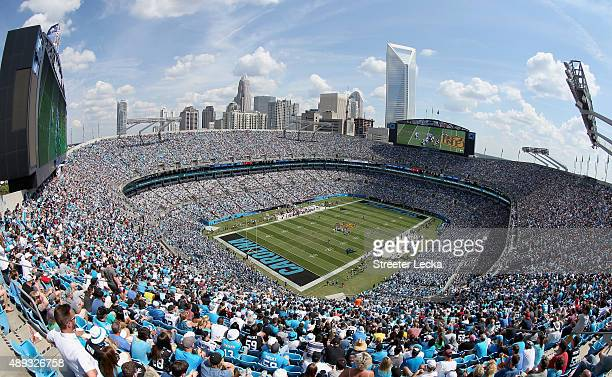 A general view of the Carolina Panthers game versus the Houston Texans at Bank of America Stadium on September 20 2015 in Charlotte North Carolina