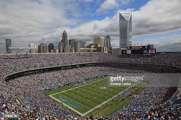 A general view of the Carolina Panthers versus Green Bay Packers during their game at Bank of America Stadium on September 18 2011 in Charlotte North...