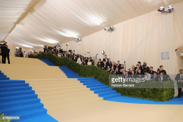 A general view of the carpet at the Rei Kawakubo/Comme des Garcons Art Of The InBetween Costume Institute Gala at Metropolitan Museum of Art on May 1...
