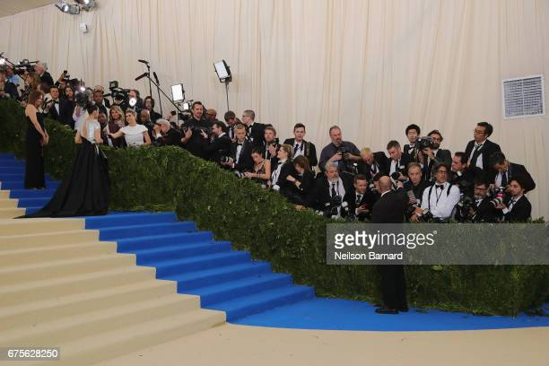General view of the carpet at the Rei Kawakubo/Comme des Garcons Art Of The InBetween Costume Institute Gala at Metropolitan Museum of Art on May 1...