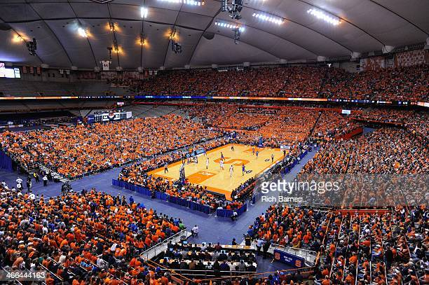 General view of the Carrier Dome during the game between the Duke Blue Devils and the Syracuse Orange in the second half on February 1 2014 in...
