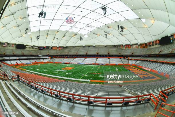 General view of the Carrier Dome prior to the game between the Cornell Big Red and the Syracuse Orange in a 2018 NCAA Division I Men's Lacrosse...
