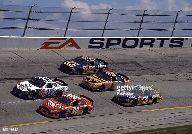 General view of the cars during the EA Sports 500 October 21 2001 at the Talladega Speedway in Talladega Alabama