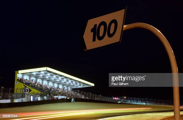 General view of the cars in action during the final qualifying session for the Le Mans 24 Hour Race at the Circuit Des 24 Heures Du Mans on June 16,...