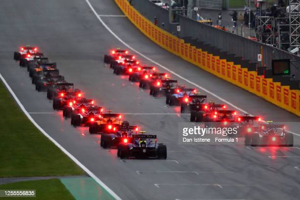 General view of the cars on the grid during the feature race for the Formula 3 Championship at Red Bull Ring on July 11, 2020 in Spielberg, Austria.