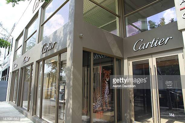 A general view of the Cartier store in the Design District prior to Art Basel on November 26 2012 in Miami Florida
