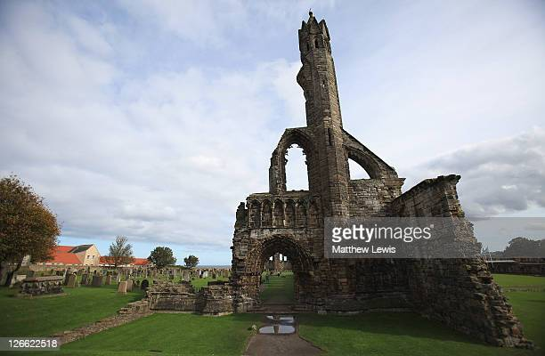 A general view of the Cathedral of St Andrews prior to the start of The Alfred Dunhill Links Championship at The Old Course on September 26 2011 in...