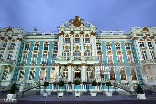 A general view of the Catherine Palace before the Mariinsky Ball of Montblanc White Nights Festival at Catherine Palace on June 19 2010 in Pushkin...