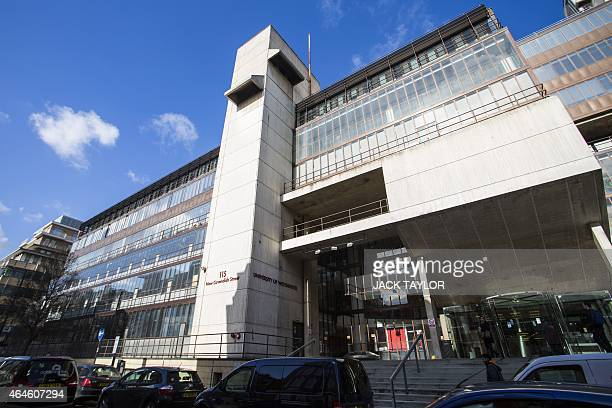 A general view of the Cavenish campus of the University of Westminster on February 27 where Kuwaitiborn London computer programmer Mohammed Emwazi...