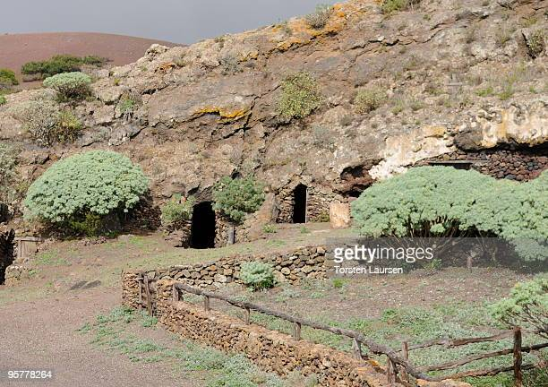 A general view of the caves on the east coast on El Hierro Island January 13 2010 in El Hierro Island Spain The island inspired and features in the...