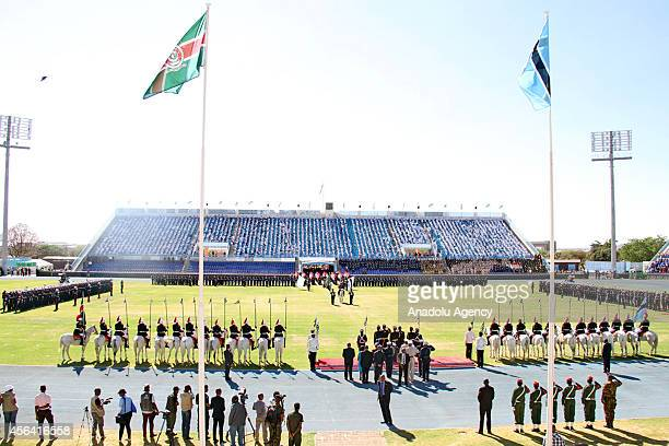 A general view of the celebrations of 48th anniversary of Botswana's independence in National Stadium in capital city Gaborone Botswana on 30...