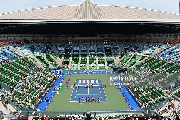 General view of the center court at the opening ceremony during day one of the Toray Pan Pacific Open at Ariake Colosseum on September 22 2013 in...
