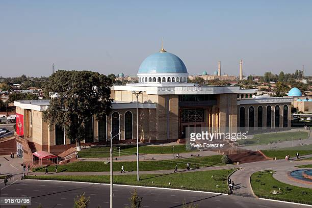 A general view of The Center of National Arts building on October 13 2009 in Tashkent Uzbekistan