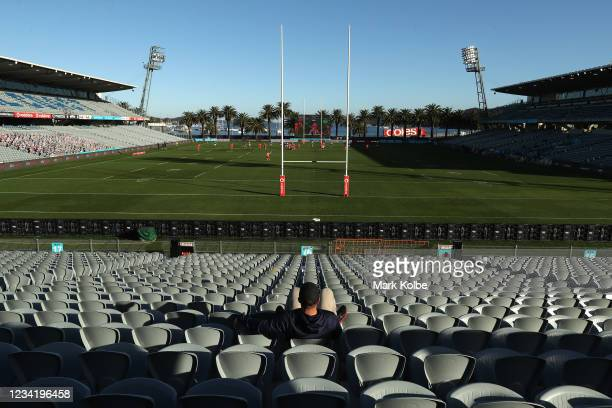 A general view of the Central Coast Stadium during the round three NRL match between the New Zealand Warriors and the St George Illawarra Dragons at...