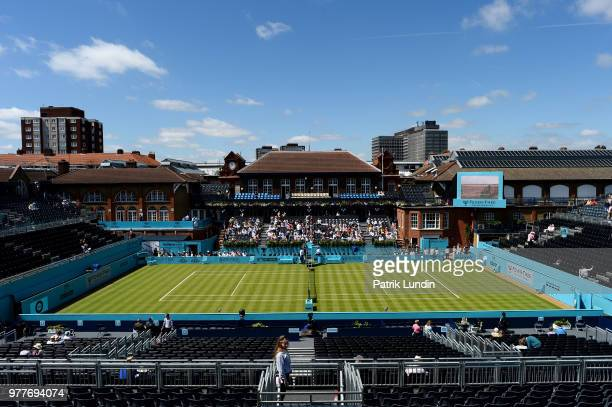 A general view of the centre court during day one of the FeverTree Championships at Queens Club on June 18 2018 in London United Kingdom