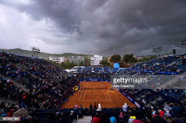 A general view of the centre court during day seven of the Barcelona Open Banc Sabadell on April 29 2018 in Barcelona Spain